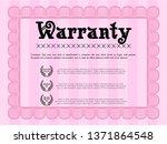 pink warranty. detailed.... | Shutterstock .eps vector #1371864548