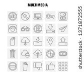 multimedia line icon for web ...