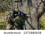 armed soldier ready for battle. ...   Shutterstock . vector #1371880658