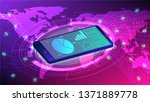 the concept of data analysis... | Shutterstock .eps vector #1371889778