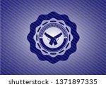 crossed pistols icon inside... | Shutterstock .eps vector #1371897335