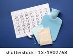 menstrual calendar with...   Shutterstock . vector #1371902768