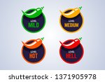 red hot chili peppers strength...   Shutterstock .eps vector #1371905978