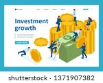 isometric investment growth ... | Shutterstock .eps vector #1371907382