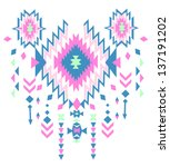 ethnic vector pattern background | Shutterstock .eps vector #137191202