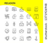 religion hand drawn icons set...