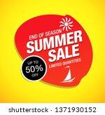 summer sale banner layout... | Shutterstock .eps vector #1371930152