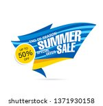 summer sale banner layout...   Shutterstock .eps vector #1371930158