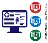 blue medical clinical record on ...   Shutterstock .eps vector #1371933212