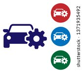 blue car service icon isolated... | Shutterstock .eps vector #1371935492