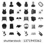 paintball  team game black.mono ...   Shutterstock .eps vector #1371945362