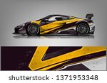 sport car racing wrap design.... | Shutterstock .eps vector #1371953348