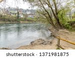 view of the river aare in brugg ... | Shutterstock . vector #1371981875