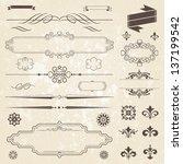 vintage decoration design...   Shutterstock .eps vector #137199542