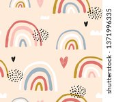 seamless childish pattern with... | Shutterstock .eps vector #1371996335