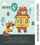 happy birthday party invitation ... | Shutterstock .eps vector #1372012982