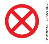 red prohibition sign isolated...   Shutterstock .eps vector #1372014872