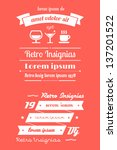 vector retro insignias  banners ... | Shutterstock .eps vector #137201522