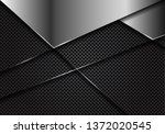 abstract silver blank on dark... | Shutterstock .eps vector #1372020545