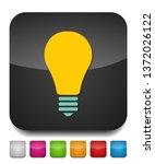 vector light bulb icon   idea... | Shutterstock .eps vector #1372026122