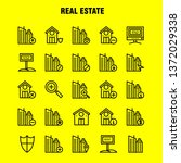 real estate line icon pack for...