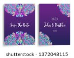 beautiful indian floral... | Shutterstock .eps vector #1372048115