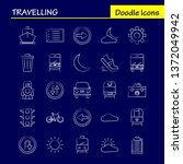 travelling hand drawn icon for...