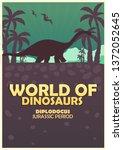 poster world of dinosaurs....   Shutterstock .eps vector #1372052645