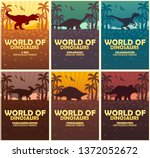 posters collection world of...   Shutterstock .eps vector #1372052672