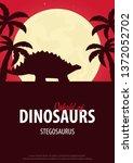 poster world of dinosaurs....   Shutterstock .eps vector #1372052702