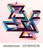 isometric geometric... | Shutterstock .eps vector #1372053278