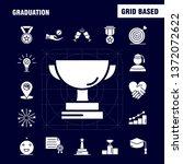 graduation solid glyph icons...