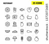 restaurant  line icons set for... | Shutterstock .eps vector #1372072685