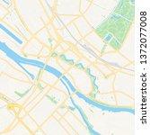 printable map of bremen ... | Shutterstock .eps vector #1372077008