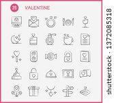 valentine hand drawn icon pack... | Shutterstock .eps vector #1372085318