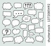blank empty speech bubbles for... | Shutterstock .eps vector #1372085492