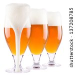 frosty fresh beer collection... | Shutterstock . vector #137208785