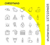 christmas hand drawn icons set...