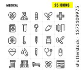 medical line icon pack for... | Shutterstock .eps vector #1372109975