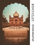 omb of safdarjung in new delhi  ... | Shutterstock . vector #1372111418
