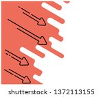 drop chart. flat illustration.... | Shutterstock .eps vector #1372113155