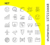 net hand drawn icons set for...