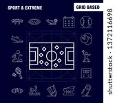 sport and extreme line icons...