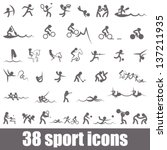 sports icons | Shutterstock .eps vector #137211935