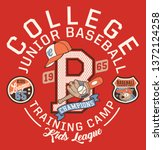 baseball kids college league... | Shutterstock .eps vector #1372124258