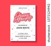 retirement party invitation.... | Shutterstock .eps vector #1372124942
