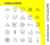 food and drink hand drawn icon...