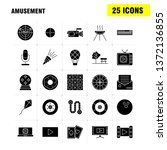 amusement  solid glyph icons...