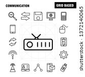 communication line icons set...