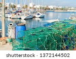 stack of commercial prawn... | Shutterstock . vector #1372144502